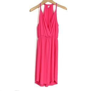 Aritzia Wilfred Taleen Wrap Front Midi Dress